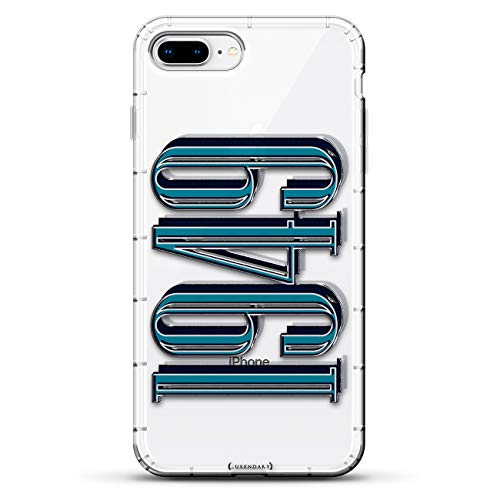 - Numbers: Number 1949 in Bold Modern Font   Luxendary Air Series Clear case with 3D-Printed Design & Air Cushions for iPhone 8/7 Plus