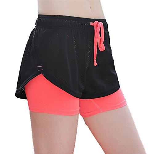 Mesh Ladia Donna A13 Estivi Di Melone Atletico ECYC Da Pantaloncini Yoga Da Rosso Sportivo Traspiranti Da L'Esecuzione Abbigliamento Pantaloncini In wqPTX8