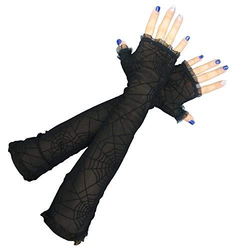 Luhiew Halloween Decorations Women's Spider Web Arm Warmer Headband Hallow Party …