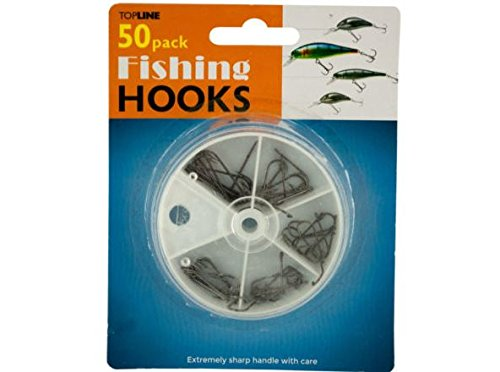 K&A Company Fishing Set Hooks in Divided Case Case of 72