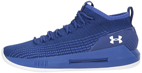 Under Armour Scarpe Basket Uomo - UA Heat Seeker - 3000089-501 - FMB/JUB/WHT-43