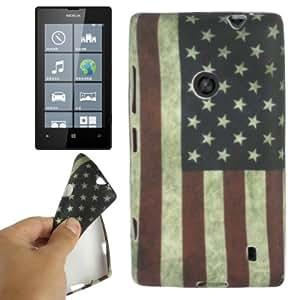 Retro USA Flag Pattern TPU Protection Case Cover Carcasa Para Nokia Lumia 520