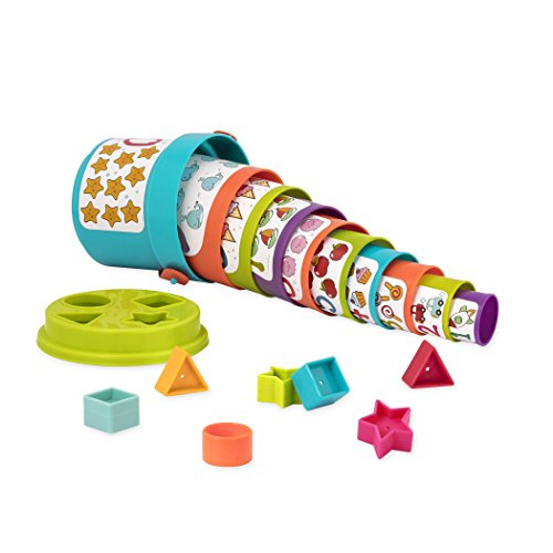 Battat Sort and Stack Learning Toy for Kids (19 pieces) JungleDealsBlog.com