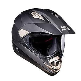 Royal Enfield ABS Full Face Helmet ( Matt Black , Medium , 57 cm , RRGHEM000360)