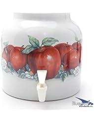 Bluewave Apples Design Beverage Dispenser Crock
