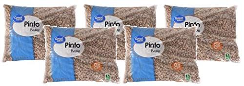 Great Value Pinto Beans, light texture, 8 lb (Pack of 5) by Great Value