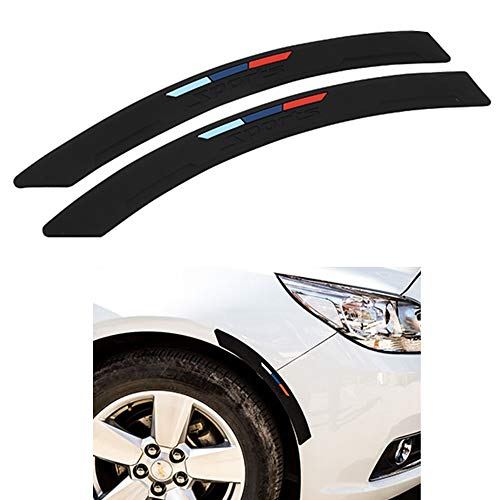 COSMOSS Car Wheel Fender Eyebrow Edge Trim Protector Rubber Strips Side Bumper Protection Guard Automobile Anti-Scratch Corner Pad Fit Most Car SUV Pickup Truck (Black, 40cm)