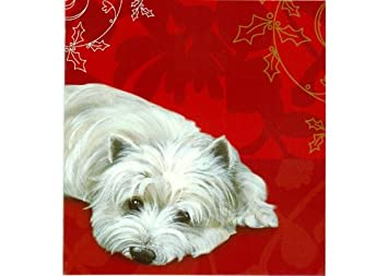 Westie Christmas Cards Brandy Snap by Pollyanna Pickering: Amazon ...