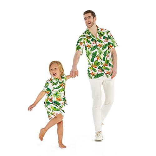 Hawaii Hangover fils père correspondant un homme blanc chemise garçon chemise hommes outfit Luau + taille XL garçon 6