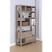 Smart Home Novelty Display Cabinet Bookcase (Dark Taupe)
