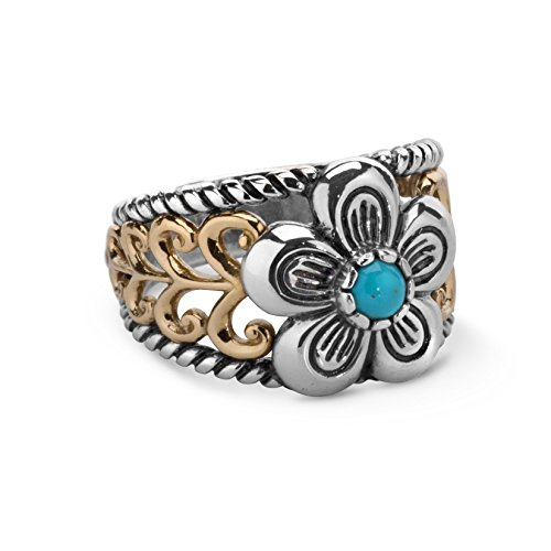 american-west-mixed-metal-turquoise-flower-ring