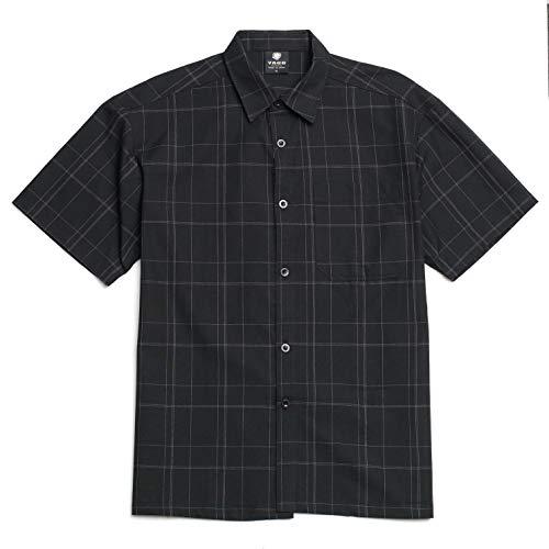 - YAGO Men's Short Sleeve Plaid Woven Work Shirt