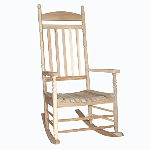 Porch rocker - turned post - solid wood Unfinished
