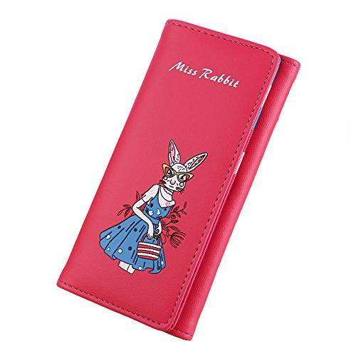 Girl Zipper Coin Cartoon Purse Red Miss Gift Holder Long Lake Rabbit LBOJA Fashion Wallet Women Blue zn88AX