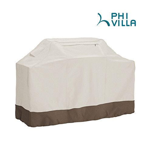 PHI VILLA Waterproof Grill Cover, BBQ Grill Cover with Weather & UV Resistant Fabric, X-Large, 71
