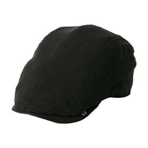 Fashion Mens Flat Cap Golf Hat Classic Newsboy Irish Gatsby Scottish Driving Caps Black Medium Fitting Siggi
