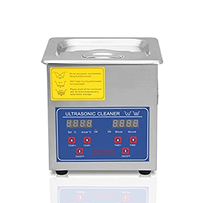 FoodKing Ultrasonic Cleaner Ultrasonic Cleaner Jewelry Ultrasonic Jewelry Eyeglass Commercial Industrial with Digital Heater Timer (1.3 Liter)