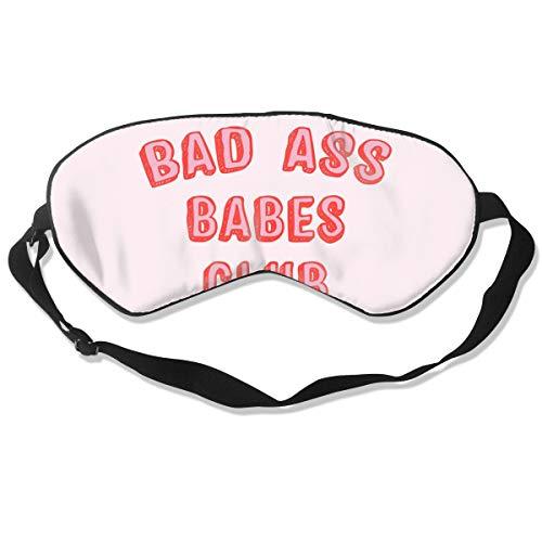 Sfjgbfjs Bad Ass Babes Club Blindfold Total Blackout & Light Blocking Eyeshade Cover with Adjustable Strap Eye Mask