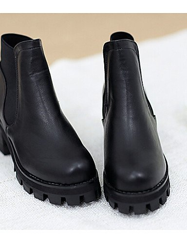 Botas Botines Redonda Tacón Zapatos Exterior us7 Negro Casual Sintético Robusto Punta Mujer Uk6 Vestido Xzz Eu38 Black Cn39 us8 Uk5 De 5 Cn38 Black Eu39 5 w0XtqK8