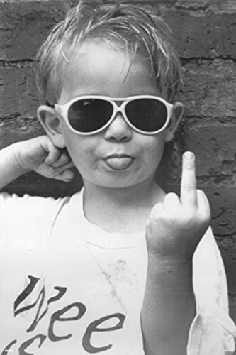 Pyramid America Hi Mum Middle Finger Kid Funny Photo Poster