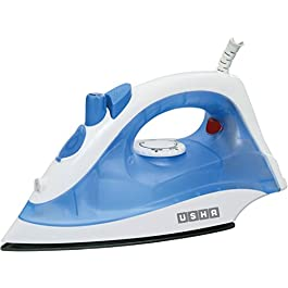 Usha Steam Pro SI 3713 1300-Watt Steam Iron (White/Blue)