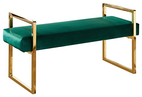 Meridian Furniture 111Green Olivia Contemporary Style Velvet