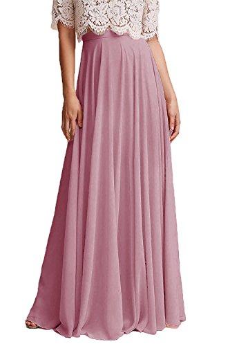 Honey Qiao Chiffon Bridesmaid Dresses High Waist Long Woman Maxi Skirt