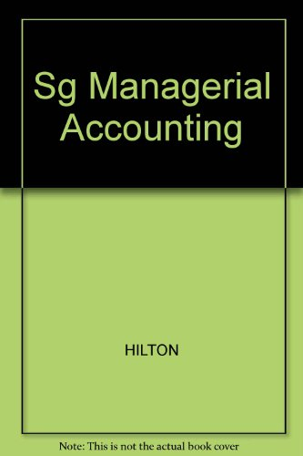 Sg Managerial Accounting