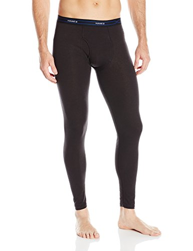 (Hanes Men's Thermal Pant, Black, X-Large)