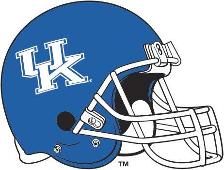 6 Inch Football UK University of Kentucky Wildcats Logo Removable Wall Decal Sticker Art NCAA Home Room Decor 6 by 5 Inches]()