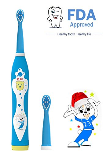 Kids Electric Toothbrush Sonic Toothbrush for Kids, Rechargeable Power Toothbrush Brush Head Replaceable,IPX7 waterproof with Music, Bristles 0.12mm