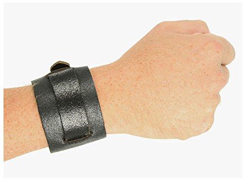 Luke Duke Costume (Single Strap Leather Wristband Jedi Costume Accessory (Black))