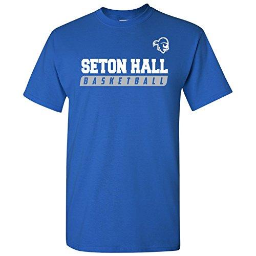 AS35 - Seton Hall Pirates Basketball Slant T-Shirt - X-Large - -