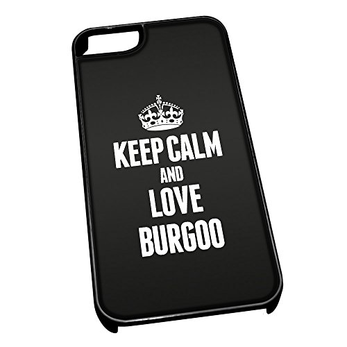 Nero cover per iPhone 5/5S 0879nero Keep Calm and Love Burgoo