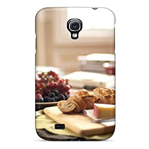 New Diy Design Cheese Bread Strawberries For Galaxy S4 Cases Comfortable For Lovers And Friends For Christmas Gifts