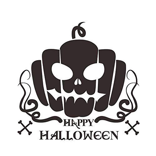 (Loneflash Halloween Wall Sticker,Creative 3D Carving Pumpkin Art Sticker Door Stairs Living Room Bedroom Decor Teenager Kids Children Decal Murals Wallpaper Poster Party)