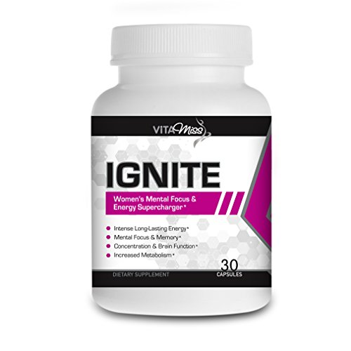 Vitamiss Ignite - Intense Energy Enhancer and Pre-Workout Supports Cognitive Function and Enhances Energy, Mood, Muscle Endurance, and Reduces Fatigue!