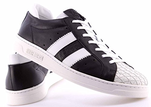 Zapatos Hombres Sneakers BIKKEMBERGS BKE108347 Bounce 588 Leather Black White
