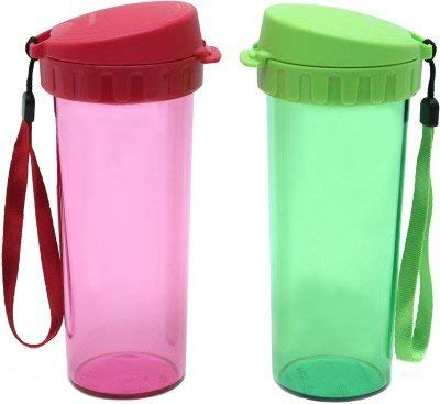 Tupperware Drinking 500 ml Sipper Pack of 2, Red, Green