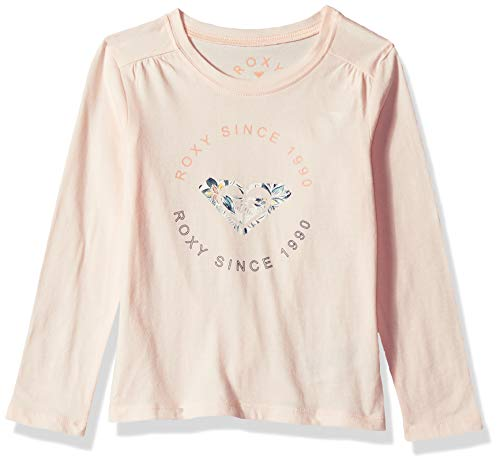 (Roxy Girls' Little Shape and Shadow Long Sleeve T-Shirt, Cloud Pink 7)