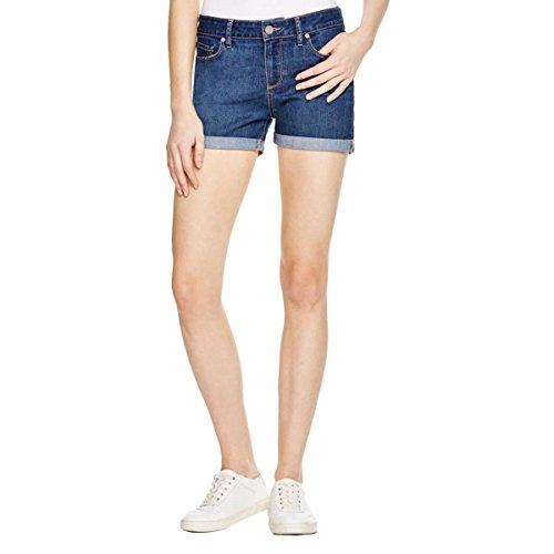 Paige Womens Cuffed Medium Wash Denim Shorts Blue 28