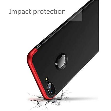 Azul Negro AILZH Funda para iPhone 6 Plus//iPhone 6S Plus+Pel/ícula Vidrio Templado Cubierta 360 Grados Caja protecci/ón de c/áscara Dura Anti-Shock Anti-rasgu/ño Protector Completo Cuerpo Caso Mate