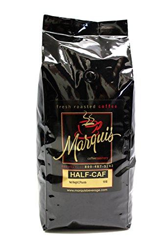 Caf ? Coffee (Ethiopian Half-Caf Whole Bean Coffee 2 lb bag)