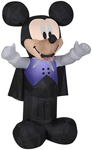 Gemmy 3.5' Airblown Vampire Mickey in Purple Vest Halloween -
