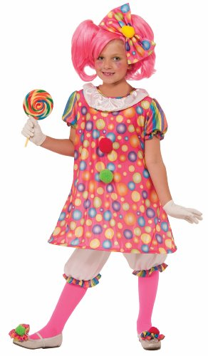Clown Girl Gloves (Forum Novelties Little Tickles The Clown Costume, Child Large)
