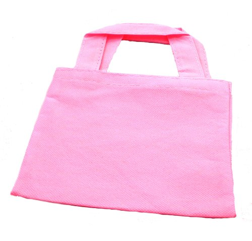 WeGlow International Miniature Tote Bags - Pack Of 12, Light Pink (12 Pink Tote Bags)