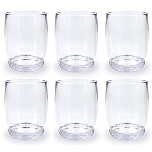 (Acrylic Wine Glasses/Drinking Glasses-Stackable Premium Quality 14 Ounce Plastic Wine Glasses, Set of 6 | Shatterproof Plastic Indoor & Outdoor Glasses | Dishwasher Safe,BPA Free)