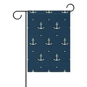 bennigiry Simple Anchor poliéster banderines de jardín 12X 18inch, bandera de Jardín de temporada para al aire libre bandera decoración para boda, Multicolor, 12x18(in)