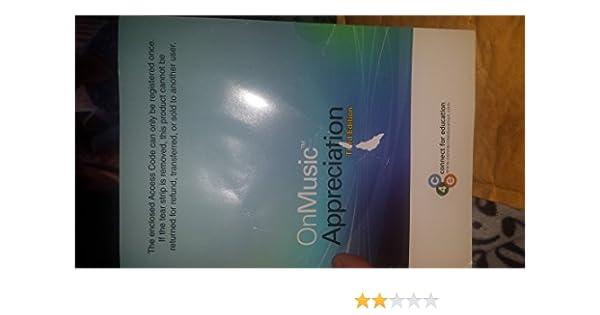 onmusic appreciation 4th edition amazon