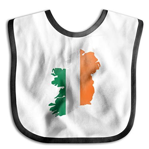 Ireland Flag Map Baby Drool Bibs Baby Skin Wrap Bib Soft Unisex